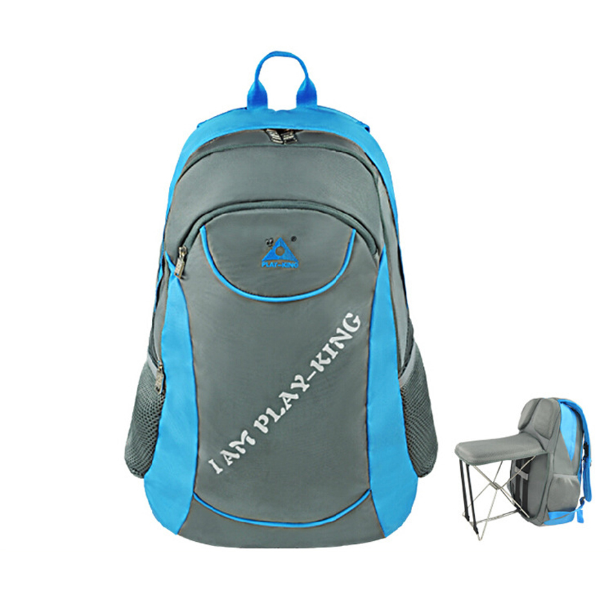 Backpack fishing chair - Patented 47l Outdoor Bags With Foldable Chair Functional Knapsack Fishing Traveling Hiking Camping