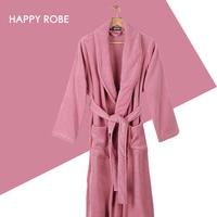 40s 1 Ultrafine 100 Cotton Bathrobes Loop Pile Long Sleeve Sleepwear Lovers Bathrobe Robe