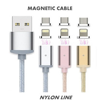 Elough 2.4A Fast Charge Micro USB Magnetic Cable For iPhone 6 6s 5 5S iPad Connector Cable For Samsung Mobile Phone Magnet Cable