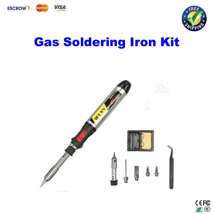ФОТО 8 in1 Butane Gas Electric Soldering Irons DIY Pen Shaped Cordless Gas Soldering Iron Torch Kit Tool