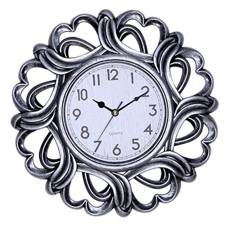 3D Wall Clock Modern Design Living Room Decoration European Vintage Retro Lacework Round Clocks Wall Watch Silence 10