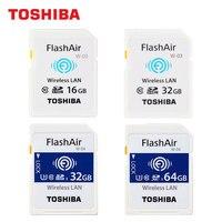 TOSHIBA WIFI SD Card 16GB 32GB W 03 SDHC FlashAir 64GB W 04 SDXC U3 C10 SLR Camera Memory Card 4K Shooting Wireless Transmission