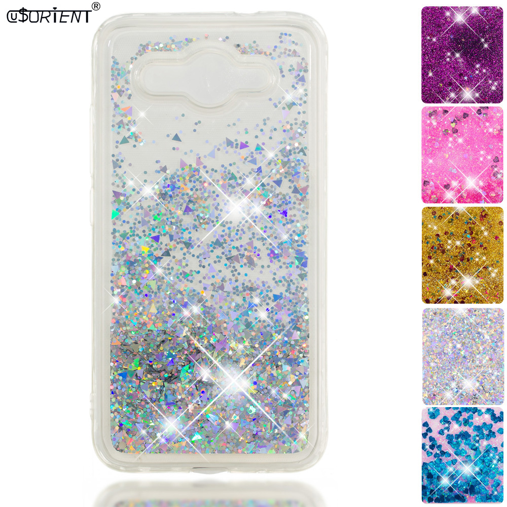 Cellphones & Telecommunications Half-wrapped Case Bling Cover For Huawei Y3 2017 Y5 Lite 2017 Glitter Dynamic Liquid Quicksand Fitted Case Cro-u00 Cro-l02 Cro-l22 Silicone Cases To Enjoy High Reputation In The International Market