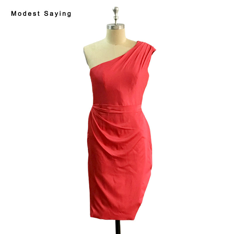Charmante robe de tapis rouge une épaule Kim Kardashian Vibrant k robe de corail célébrités robes inspirées 2017 robes d'été BE92