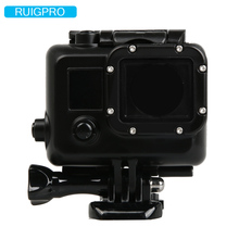 Ruigpro for Gopro hero3 waterproof housing case + mount for Gopro go pro hero 3 black edition camera accessories suptig for gopro waterproof housing case for gopro hero 4 hero3 hero 3 underwater protective box for go pro accessories