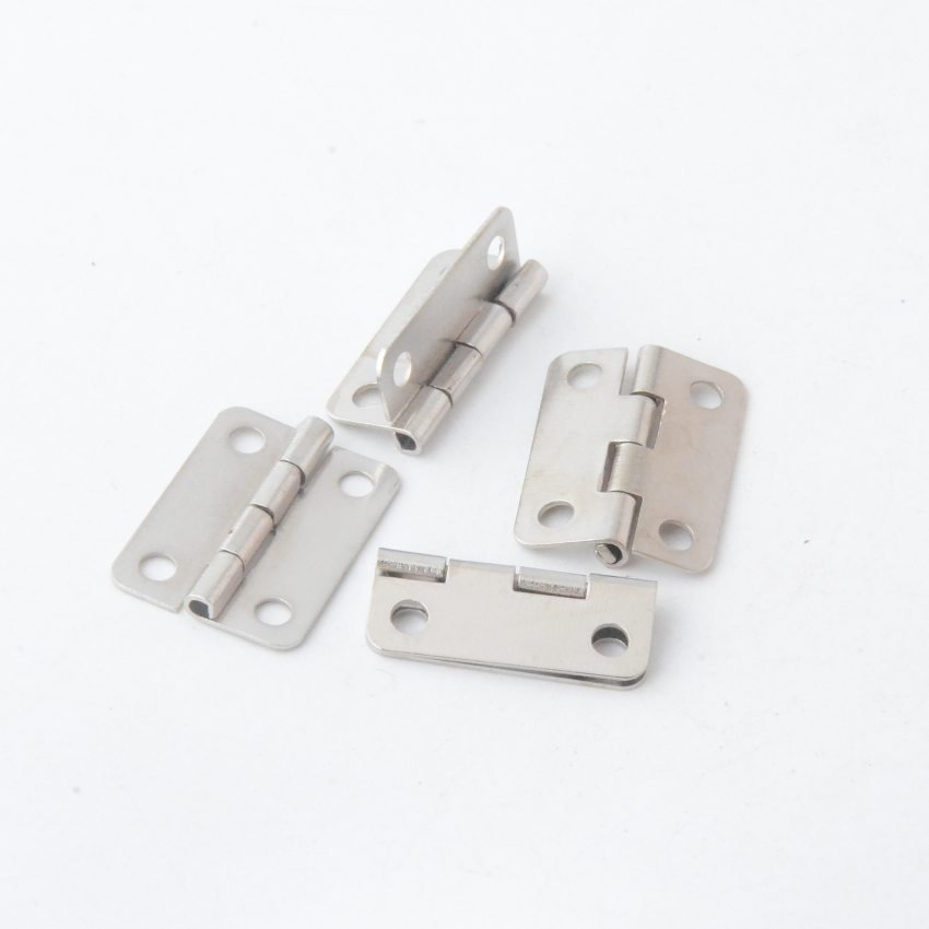Free Shipping 30pcs Silver Tone Hardware 4 Holes DIY Box Butt Door Hinges (Not Including Screws) 22x16mm J3021