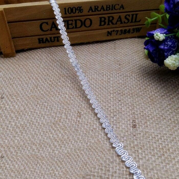 5 мм золото серебристый, черный вышитые кружева лента Hometexile одежду Украшение DIY Свадебные ремесел Wh