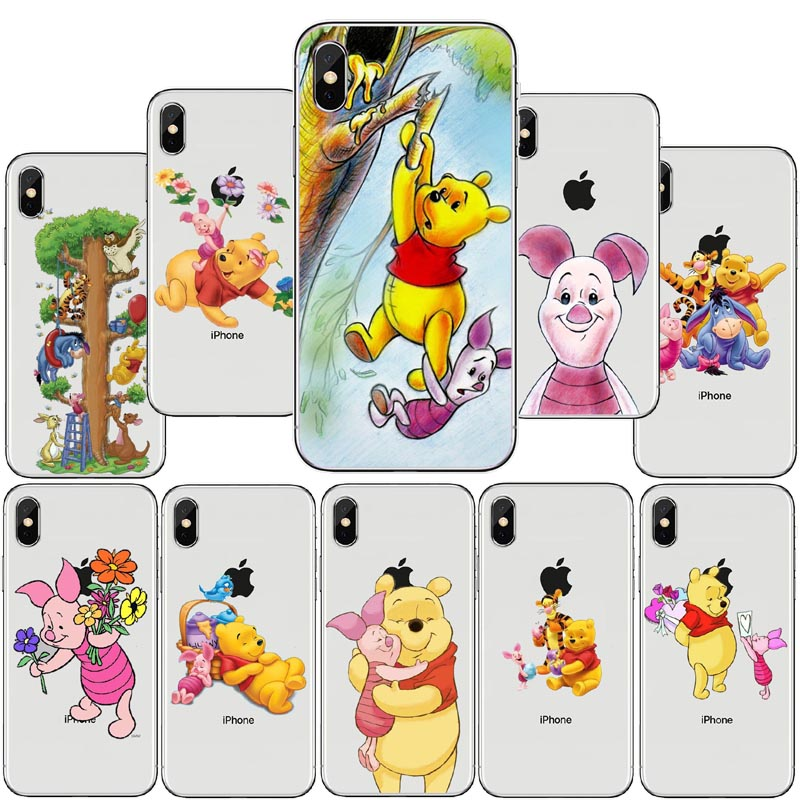 US $1.5 48% OFF|The Winnie Pooh Cartoon Naughty Lovely Eeyore TPU Soft  silicone Mobile Phone Cases For iPhone5S SE 6 6SPlus 7 7Plus 8 8Plus X C-in  ...