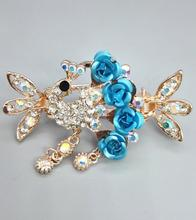FS508 2017 Retro Luxury baby girl  Flower Hair Clips children  Hair Claw Clip women Jewelry Crystal  Crab claw hairpins Barrette metal rhinestones hair clip vintage bronze plating butterfly hair claw retro flower hairgrip women hair jewelry