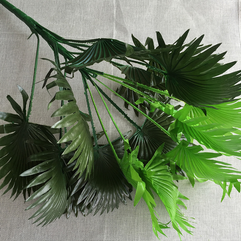 60cm Wedding Home Church Florist Furniture Decor Artificial Coconut Fan Palm Plant Tree no Vase Fake Foliage