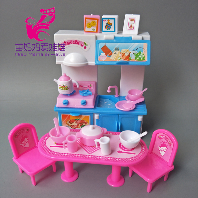 kitchen set for barbie doll furniture accessories fashion dinner rh aliexpress com barbie doll furniture patterns barbie doll furniture scale