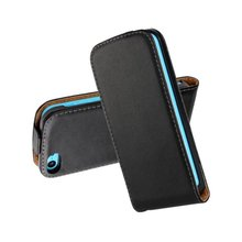 Luxury Genuine Real Leather Case Flip Cover Mobile Phone Accessories Bag Retro Vertical For Apple IPHONE 5C PS(China)