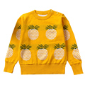 QUIKGROW 3~4 Years Well-made Long Sleeve Toddler Kids Sweater Children Baby Girl Boy Knitted Pineapple Pullovers Tops MA14MY
