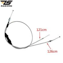 ZS Racing Gas Throttle Cable For Acceleration Pump Carburetor 200cc 250cc Dirt Bike Motorcycle Parts