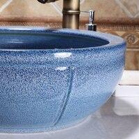 waist drum shape solid color ceramic wash sink for bathroom