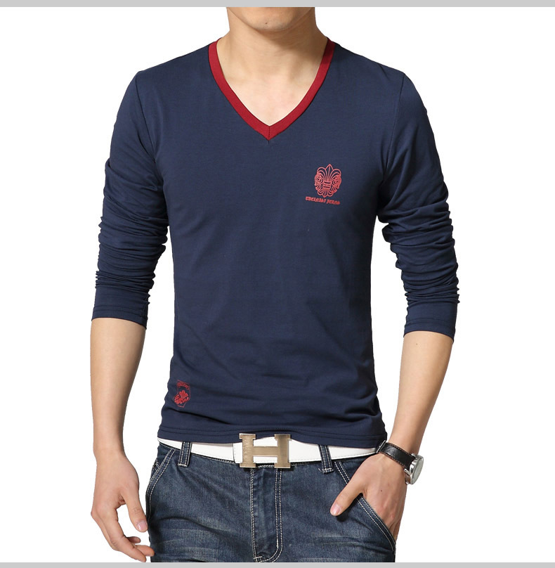 Aliexpress.com : Buy 2016 new Mens V neck T shirts Fashion slim ...