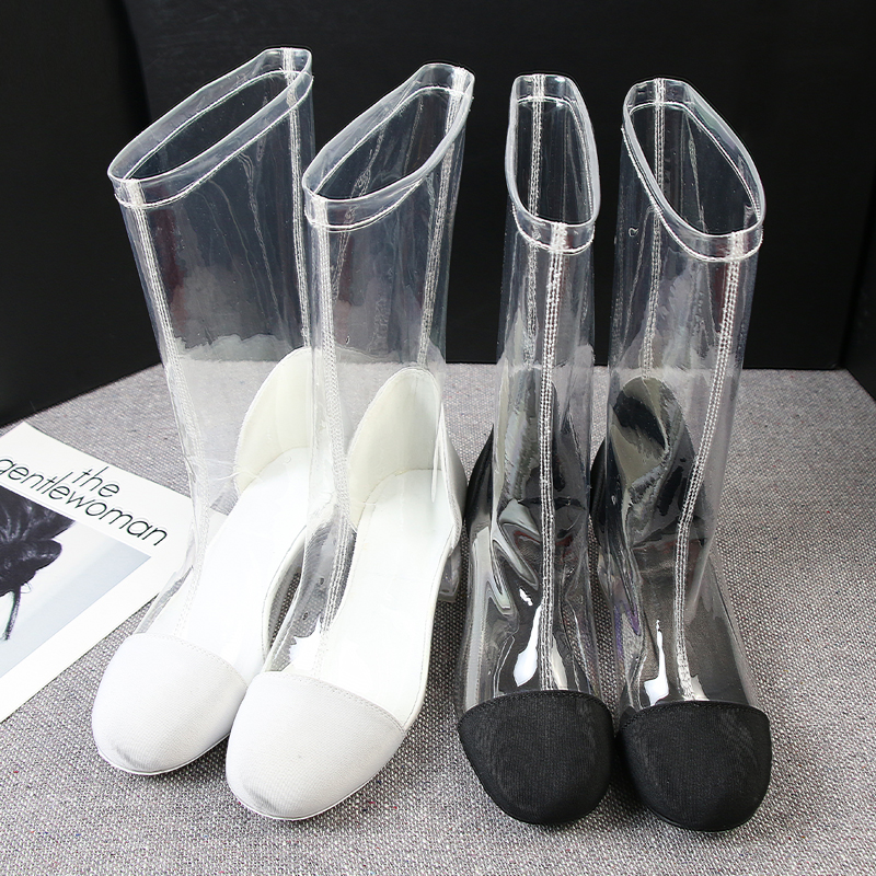 bota transparent shoes 2019 clear boots Fashion luxury brand New summer women boots Mid-Calf PVC size 35-40 bota transparent shoes 2019 clear boots Fashion luxury brand New summer women boots Mid-Calf PVC size 35-40