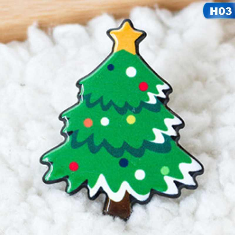 4e46f6af9d504 ... New Christmas Gift Acrylic Badges Pin Brooches Santa Claus Snowman Elk  Brooch Pin For Kids T