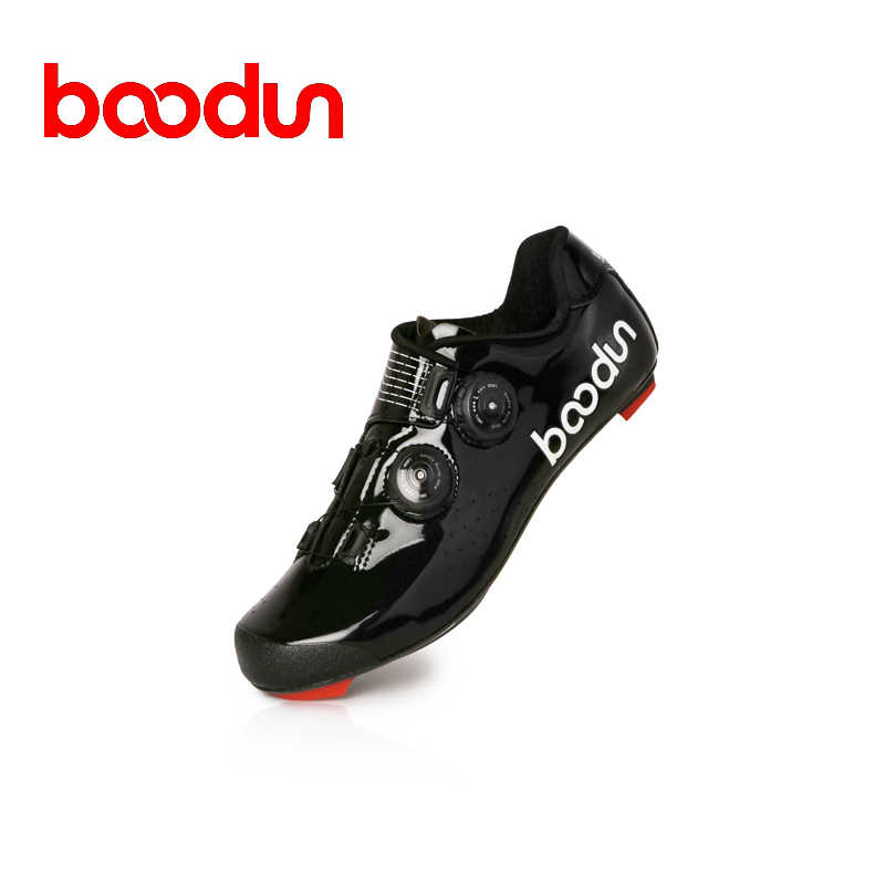 Boodun 2019new style Road Cycling Shoes Carbon Fiber Men Self-Locking Racing Breathable Ultralight Professional Bicycle Sneakers