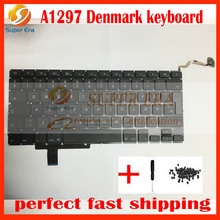 10pcs/lot New LAPTOP KEYBOARD FITS 17″ for MacBook Pro Unibody A1297 Danish Keyboard without backlight backlit