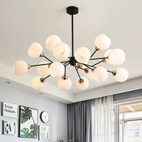Modern Chandeliers for Living Room Bedroom Home Decoration Indoor Lighting Fixtures Hanging Lamps Contemporary Iron Ball Design