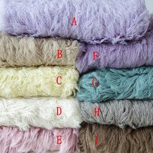 Cobertor de lã redondo flokati, cobertor de lã recém-nascido, para fotografia, adereços e capa de pelúcia