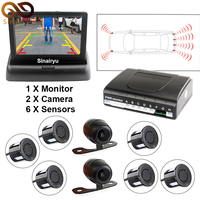 3 In 1 Car Video Parktronic Parking Assist System 6 Sensors Parking Sensor 1 Rear Front
