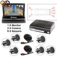 3 In 1 Car Video Parktronic Parking Assist System 6 Sensors Parking Sensor 1 Rear Front