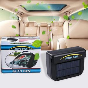 0.8W Solar Car Fan Automatic Cooler Ventilation Fan Auto Exhaust With Rubber Exhaust Fan Solar Window Cooling Radiator(China)