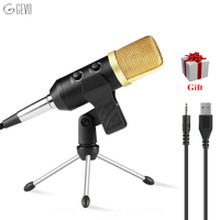 Radio Broadcasting Wired Microphone USB Condenser Sound Recording Mic With Stand For Chatting Singing Karaoke