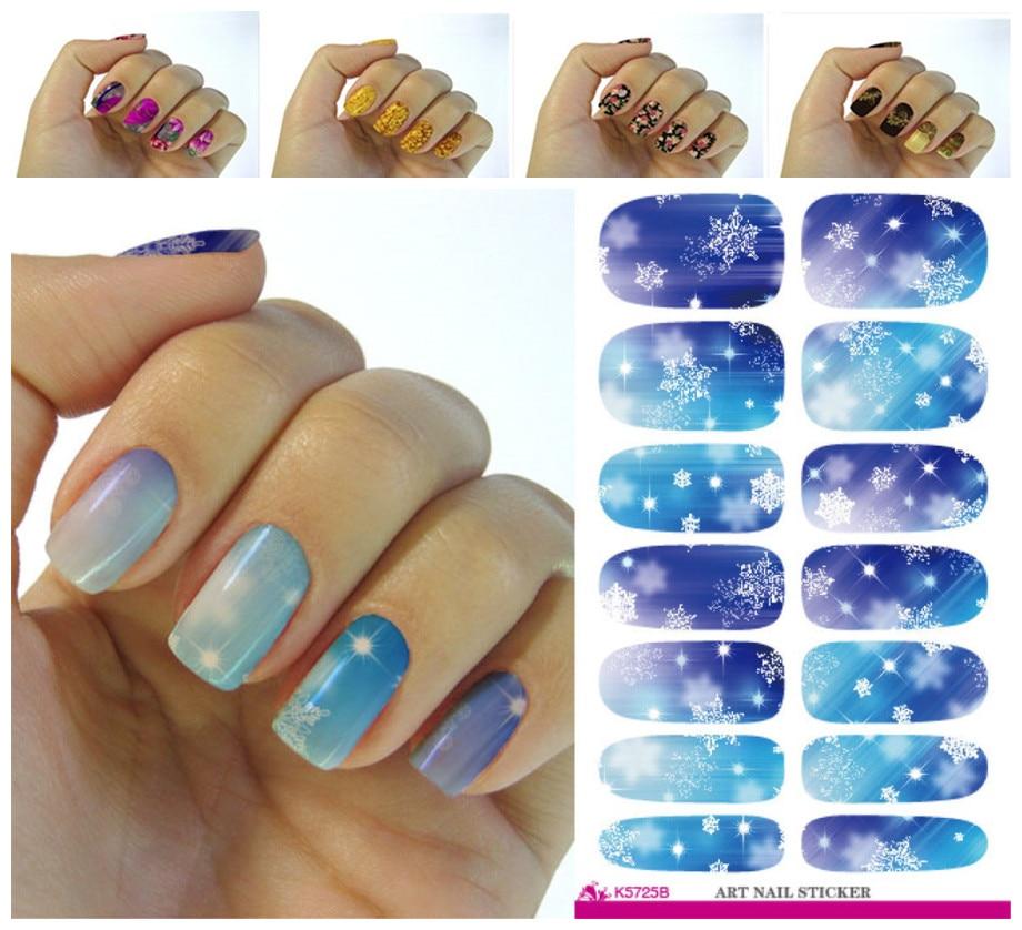 Fashion Nails Art Sticker Colored Bright Crystal Design Nail Sticker Interesting Decorative Nail Art Designs