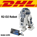 2017 New 05043 2127Pcs Star Wars Series The R2-D2 Robot Model Building Kit Blocks Bricks  Compatible Toy For Children Gift 10225