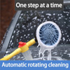 Hot Sale Automatic Rotary Car Washing Brush Car Cleaning Brush Household Portable Washing Long Handle Retractable