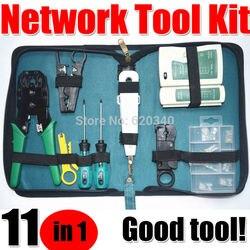 Darmowa wysyłka 11-in-1 telekomunikacyjnych zestaw narzędzi do konserwacji  NS-468 kabel sieciowy Tester  3 Way narzędzie do zaciskania  ściągacz do kabli