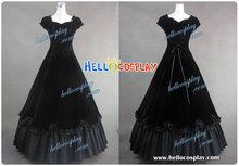 Southern Belle Civil War Satin Ball Gown Dress H008