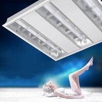 LED Ceiling Light Stainless Steel 600*600 Grill Reflector LED Tube Holder Bracket For Office Market Fitting Lamp Wall Lamp