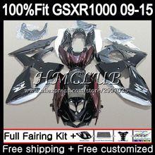Инъекции для SUZUKI GSXR 1000 2009 2010 2011 2012 35HC. 10 GSX-R1000 K9 цвета: черный, красный, GSXR1000 09, 10, 11, 12, 13, 15 обтекатель