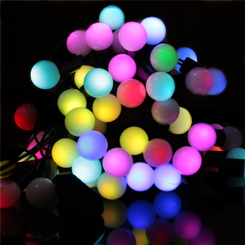6M 40 Led Ball string lamps outdoor Led christmas decor fairy lights Wedding garland garden home party holiday RGB 220V