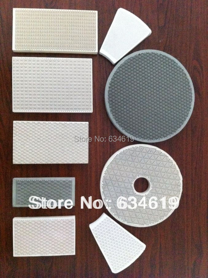 Gas BBQ burner ceramic plate porous flameless heat reflect plate honeycomb infrared ceramic plate for oven customized size on Aliexpress.com | Alibaba ... & Gas BBQ burner ceramic plate porous flameless heat reflect plate ...