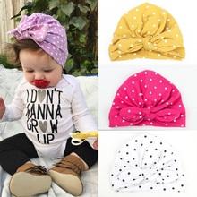 1 sztuk śliczne Dot Beanie dziewczynka kapelusz elastyczna czapeczka niemowlęca Turban Bowknot czapka dla dziewczynek trwała bawełna akcesoria do kapeluszy dla dzieci dla dziewczynek tanie tanio COTTON Regulowany MY2026 Unisex 0-3 miesięcy 4-6 miesięcy 7-9 miesięcy 10-12 miesięcy 13-18 miesięcy 19-24 miesięcy