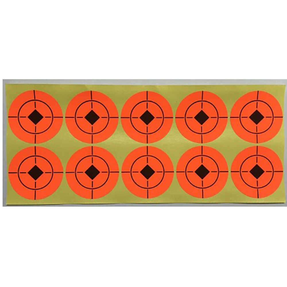 High Visibility Targeting Sticker Diameter at 1.5 , 2 and 3 Make everything a Shoot Target Can be glued onto a steel plate