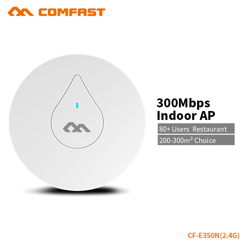 COMFAST Powerful 300Mbs Wifi Router Wifi Access Point Include 48V POE Support OpenWRT Built In PA 300sq Coverage CF-E350N цена