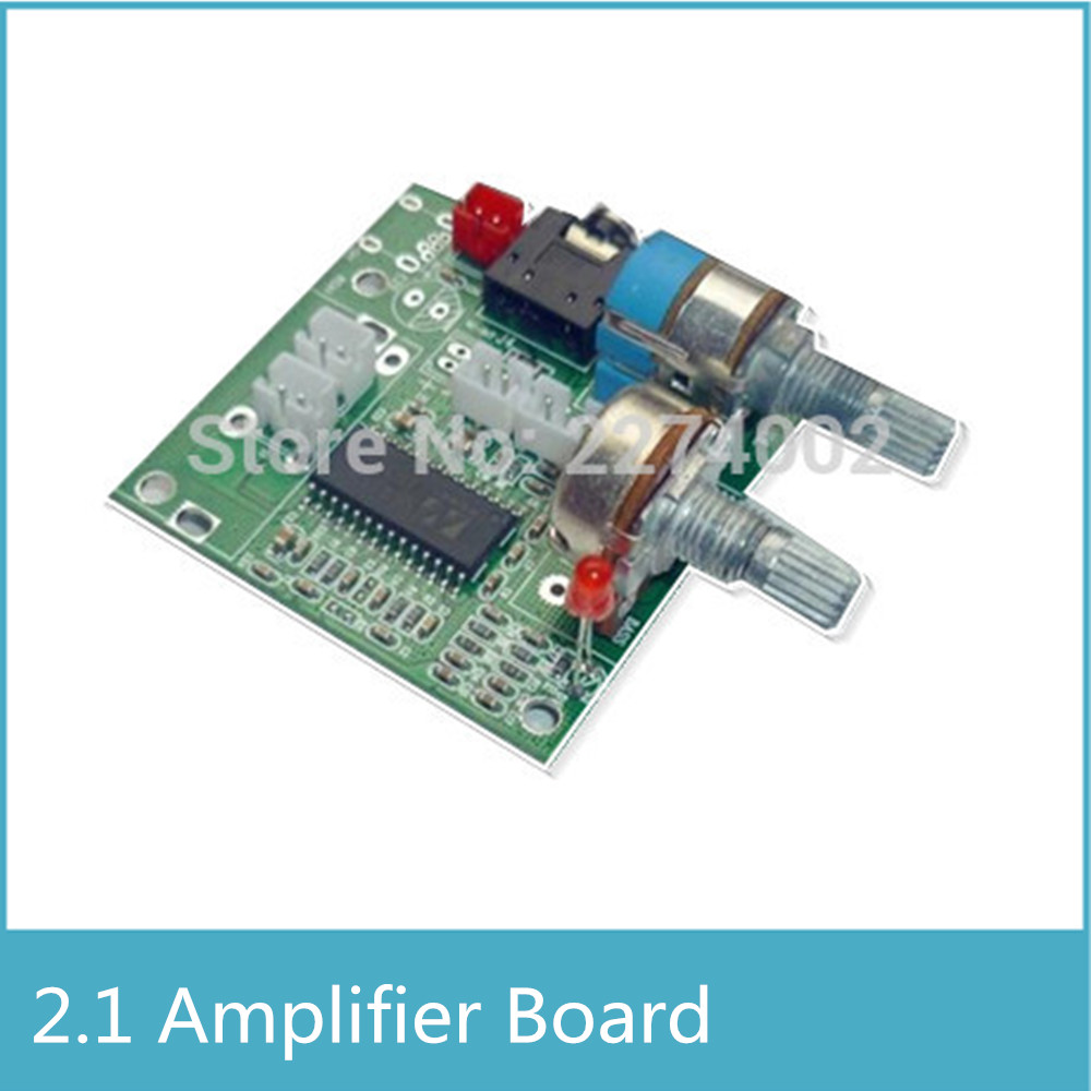 1pcs 5V 2.1 Channel Stereo Class D Digital Power Amplifier Audio 2.1 Amplifier Board Audio Amplifier Board MP006 image