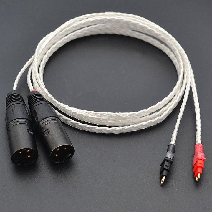 Furukawa 8 core hd600 hd650 hd580 headphone upgrade cable Dual 3 pin XLR balanced cable
