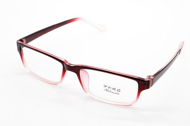 Full-rim moda RED GRADUAL óculos de armação CUSTOM MADE miopia óptico e lente de óculos de leitura + 1 + 1.5 + 2 + 2.5 + 3 + 3.5 + 4 + 4.5 + 5 + 5.5 + 6