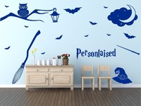 style wizard magic personalised name bedroom wall Art sticker Wall Decals for kids room Decor