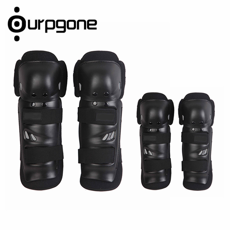 Ourpgone 4pcs / set Sports Adult Elbow Knee Shin Armor Geer Guard Pads Protector for Bike Motorcycle Motorbike Bike Racing Skating