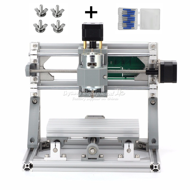 Mini CNC fraiseuse 1610 500 mw laser CNC graveur travail pour pcb bois pvc etc avec contrôle GRBL