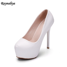 Wedding Shoes White Thin High Heel Bridal Dress Shoes Party Prom Pumps Beautiful Platforms Lady Court Shoes Handmade XY-A0070 plus size 34 40 fashion lace wedding shoes white for women handmade bridal shoe comfortable heel platforms brides shoes