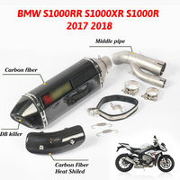 For BMW S1000RR S1000XR S1000R S1000 RR XR R 2018 2017 Motorcycle Accessories Muffler Exhaust System Pipe Middle Parts Motorbike